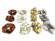 WHOLESALE JOB LOT LUXURY BROWN SCRUNCHIES BRAND NEW SILK FEEL (MZ4)