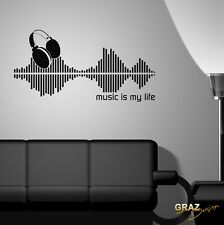 Wall Tattoos Wall Stickers Music Disco Retro: Equalizer - Music Is My Life