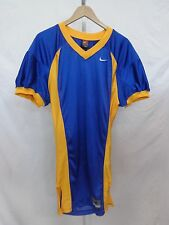 College Authentic Blank Football Jersey Royal Gold Trim and Sides Pro Cut