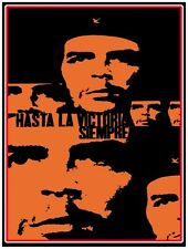 8138.Hasta la victoria.siempre.multiple images.che guevara.POSTER.art wall decor