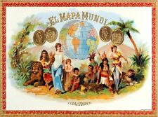 8148.El maps mundi.cuba habanos,people from the world.POSTER.art wall decor