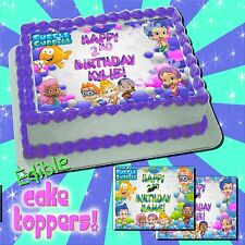Bubble Guppies edible Cake toppers image transfer sugar Birthday paper ideas