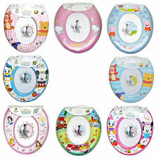Disney & Kids TV Character Padded Toilet Seat Soft Potty Training Bath Brand New