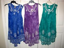 India Boutique Womens Umbrella Dress Swim Cover Up Free Size Large to XL NWT