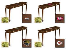 FC616 NFL TEAM THEME CHERRY FINISH WOODEN SOFA TABLE TV FLAT SCREEN LCD STAND
