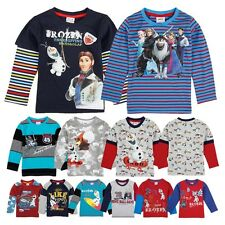 New Arrivals Kids Boys Hot Frozen Olaf Sven Print Fall Long Sleeve T-Shirts Tops