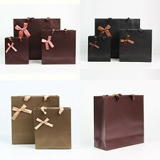 1 X 3 Color Kraft Shopping Gift Handle Carrier Wedding Paper Bag Party Gift Bags