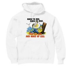 Pullover Hooded Sports Sweatshirt Early To Bed Rise Fish All Day Make Up Lies