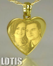 Unique Gift - PHOTO ENGRAVED Pendant Gold Plated - your image and text engraved.