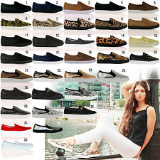 D8X Womens Casual Flat Pumps Gusset Trainers Plimsolls Girls Ladies Shoes Size