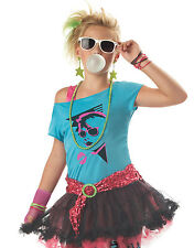 80's Valley Girl Cyndi Lauper Rock Star Madonna Girl Halloween Party Costume S-M