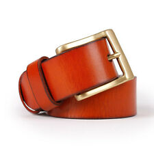 Mens Genuine Leather Belt  Buckles Custom hip Tang Belt Buckle gold Cool For Men