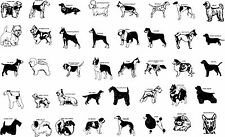Custom Various Dog Breeds Vinyl Decal Sticker for Car, Truck, Laptop, Cornhole