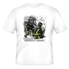 Fire Ems Police T-shirt Firemen Firefighters America's Heroes Fighter Fireman