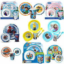 Disney & Kids TV Character School Tumbler Bowl Plate Lunch Dinner Set New Gift