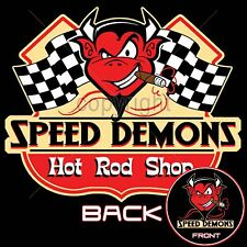 Speed Demon Hot Rod Speed Shop T Shirt Retro Little Devil Small to 6XL and Tall