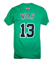 Chicago Bulls Basketball Joakim Noah Adult Short Sleeve T-Shirt Green NWT
