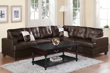 Poundex Bobkona Sofa Set Corner Sectional Couch w 2 Pcs Pick Up in Los Angeles