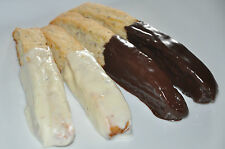 12 Biscotti Cookies Chocolate Dipped Homemade ! Gift! Fresh!