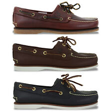 TIMBERLAND SHOES - TIMBERLAND CLASSIC BOAT SHOE - ROOTBEER/DK BROWN/NAVY - BNIB