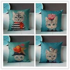 Cotton&Linen Throw Sofa Decorative Pillow Case Cushion Cover Cat Serries