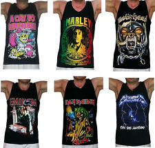 Unisex Metal Vest Tank Top Singlet T-Shirt All Sizes