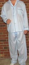 Pajamas Men's Long Broadcloth Cotton  2XL Only 'Made in USA' Perfect Price