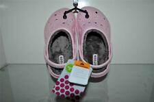 Crocs Dasher Lined Clogs Kids Girls Shoes Petal Pink/Chocolate NWT