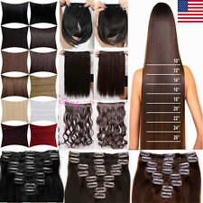 US Seller Premium 125G SALON FINEST HAIR EXTENTION 5 CLIPS IN Mega Thick LOOK HG