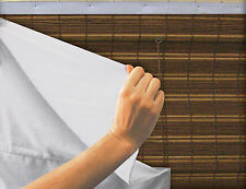White Fabric Privacy Liner for Bamboo Roman Shades,Natural Woven Wood Shades