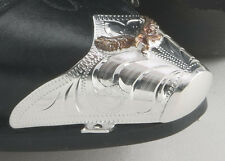 Western Silver Plated Engraved Gold Eagle Snip Toe Tips for Cowboy Boots