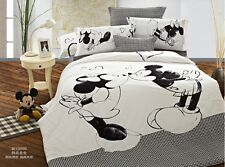 black white Mickey Mouse Cotton king queen Size Duvet/ quilt Cover bed Set sheet