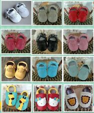 Baby Prewalker Moccasins Soft Shoes Newborn Baby  Anti-slip Genuine Leather