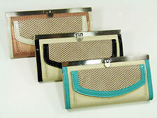 NEW!!  ROLFS Wallet Organizer, Clutch Purse choice of Black, Bronze or Turquoise