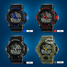 Fashion Waterproof LED Digital Alarm Date Mens Military Sport Wrist Watch