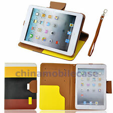 US Hybrid Color PU Leather Wallet Magnetic Flip Cover Stand Case for iPad mini