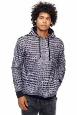 Mens L.A.T.H.C. Black Gator All Over Sublimation Print Hoodie