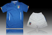 Italy  Personalized Boys Youth Soccer Uniform Kit Home blue  2013-14 Top Quality