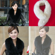 Fashion Women Girl Winter Faux fox Fur Fluffy Scarf  Collar Neck Fur Collar
