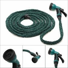 Latex 25 50 75 100Feet Expanding Flexible Garden Water Hose Pipe& Nozzle Sprayer