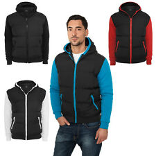 Urban Classics Men's Sweat Nylon Hoody Vest Sweater Pullover Quilted Vest Tb284