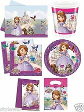 Sofia The First Disney Princess Girls Birthday Party Supplies Cups,Plates,Bags