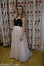 Pink and Black Ballgown, Prom Dress