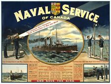 9077.Naval service of canada.naval ships..POSTER.decor Home Office art
