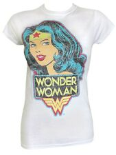 DC Comics Wonder Woman Ladies White T-Shirt - NEW & OFFICIAL