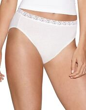 Hanes Women's Cotton No Ride Up Hi-Cut Panties with Lace 5-Pack style PL43AS