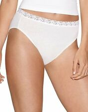 Hanes Women's Cotton No Ride Up Hi-Cut Panties with Lace 5-Pack - style PL43AS