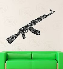 Wall Stickers Vinyl Decal War Weapons Military Ak-47 Pattern Decor (ig2274)