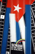 9282.Semana de cine cubano en venezuela.cuban flag.POSTER.decor Home Office art