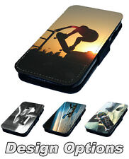 Skateboarding Photos - Printed Faux Leather Flip Phone Cover Case